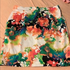 Business casual floral skirt